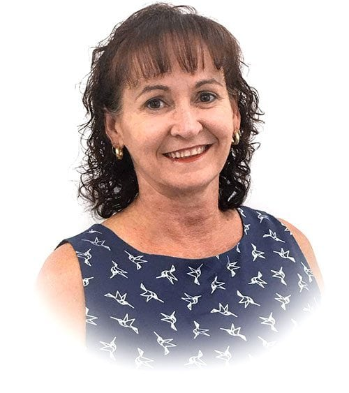 A closeup picture of Sandra, A manager of coorparoo denture clinic